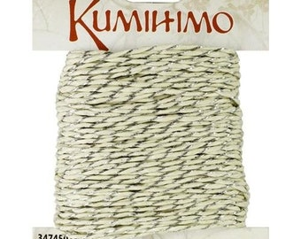 Kumihimo Cord W/Silver Twist 1mm 19.7yd by Cousin