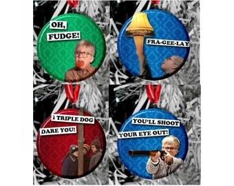 4 A Christmas Story Ornament Set