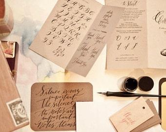Calligraphy starter kit - black + sepia ink