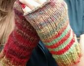 Fingerless mittens // fingerless gloves // Noro kureyon ( sale )
