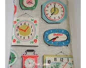 Mini iPad Mini Case Cover Pouch Sleeve Cath Kidston Clocks PVC Oilcloth Fabric Teatime London Greenwich Meantime Clock
