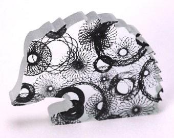 Spirograph Hedgehog Glass Sculpture