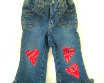 Baby Couture Altered Blue Jeans Cowgirl Hippie
