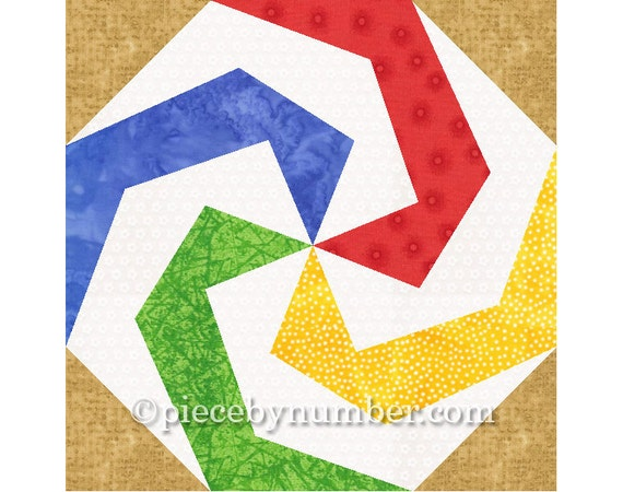 Lollipop quilt block pattern paper pieced quilt patterns