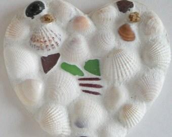 Seashell Mosaic Heart