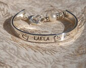 hand stamped bangle for Madilyn