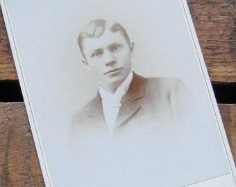 Vintage Antique Portrait of a Young Man - Photograph / Cabinet Card