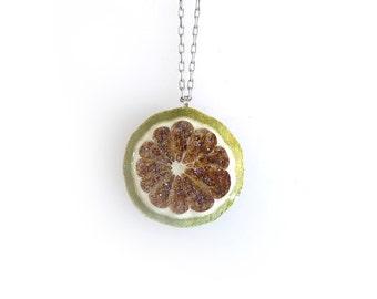 Fruit Jewelry: Glitterlimes Keylime Necklace