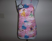 Medium Girls Reversible Princess Apron With Front Pocket