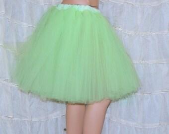 Pastel Mint Green Romance Knee Length TuTu skirt adult Medium MTCoffinz - Ready to Ship