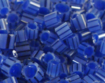 "Handmade Murrini Chips COE 104 For Lampwork Artists ""Blue Suede Shoes"" by Solaris Beads MB30"
