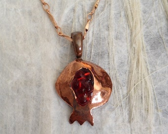 Copper Pomegranate Necklace
