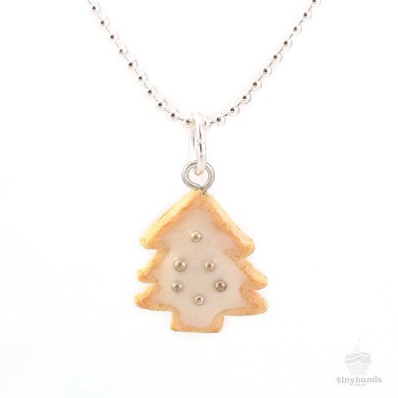 Food jewelry scented christmas tree cookie charm by tinyhands for How to make scented jewelry