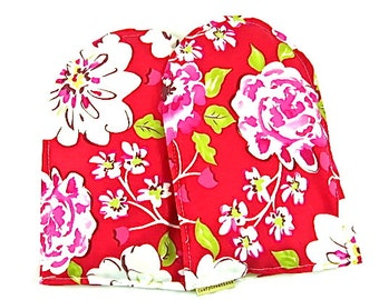 Hand Warmers Hand Therapy Arthritis Wrist Pain Heat Packs Microwave Pack Gift Guide Red Floral
