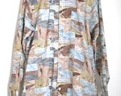 Vintage 60s 70s Desert Days Long Sleeved Button Down Shirt