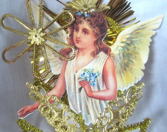 Victorian Style Angel And Forget-Me-Nots Craft Supplies