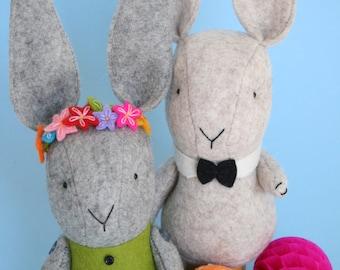 Love Somebunny : PDF rabbit sewing pattern