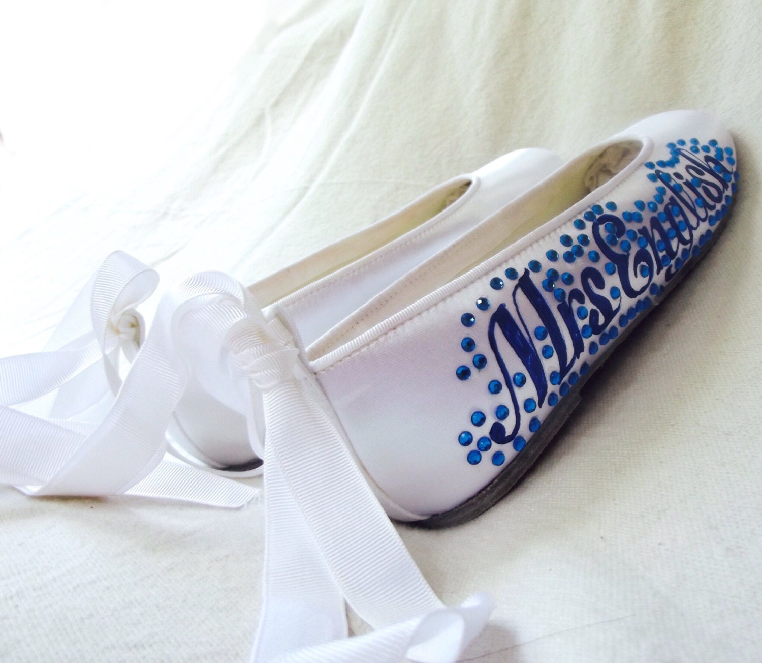 Flat Blue Wedding Shoes