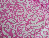 SALE Upholstery Fabric by Fabric Shoppe. Beautiful home decor fabric - Silhouette in Fuchsia -You choose the cut. Free Shipping Available