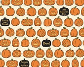 SALE fabric, Halloween fabric, Pumpkin fabric, Quilt fabric, Witch Hazel fabric by Riley Blake Fabrics, Pumpkins in Orange, Choose your cut