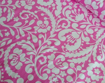 SALE 5 dollars per yard sale, Upholstery Fabric by Fabric Shoppe, home decor fabric - Silhouette in Fuchsia -You choose the cut