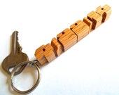 Date Keychain - Oak Wood - Made to Order