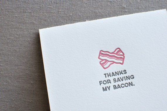 paperwheel letterpress bacon