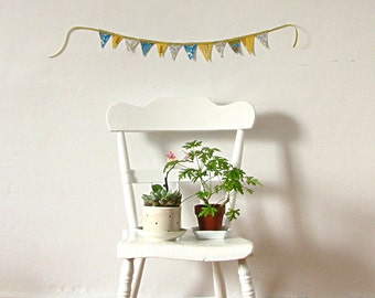 Banner Yellow Floral Cotton Banner Bunting Mother's Day Spring Decor Home Decor Wedding Decor
