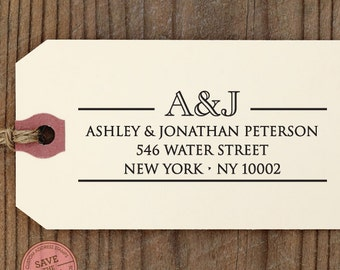 CUSTOM ADDRESS STAMP with proof from usa, Eco Friendly Self-Inking stamp, rsvp address stamp, library stamp, calligraphy designer stamp 97
