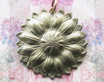 Sunflower Rosette Escutcheon Diy Pendant Antique Furniture Medallion Hardware Jewelry