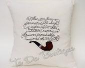 SALE Sherlock inspired Pillow case/cover