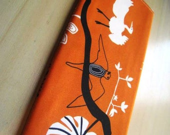 Birds on Orange -Apple Magic Keyboard or Samsung Wireless Keyboard Sleeve - Padded and Zipper Closure