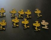 vintage woodstock buttons set of 10