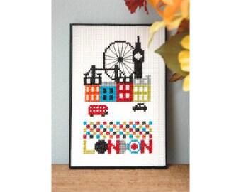 London Cross Stitch Pattern Instant Download