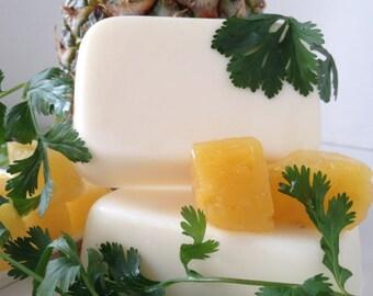 Pineapple Cilantro Goat's Milks Soap - Bright Refreshing Fragrance