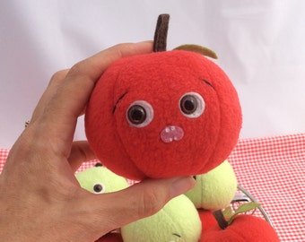 Scared Red Delicious Apple Plush