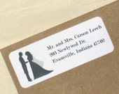 Bride and Groom Address Labels - 90 self-adhesive labels - Wedding Silhouettes - Wedding Address Labels - Choose Couple