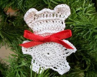 Crochet Teddy Bear Ornament