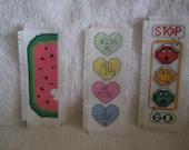 Three Cross Stitch Bookmarks