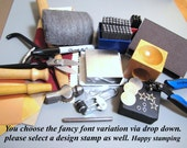 RZ fancy font jewelry stamping kits- complete set up you choose what font variation