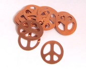 10 Copper Peace signs 24 ga Fun for stamping size 1 1/4 x 1 inch 24 gauge