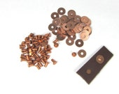copper rivets plus washers 3/32 x 3/16 leather fastening 50 ps each example