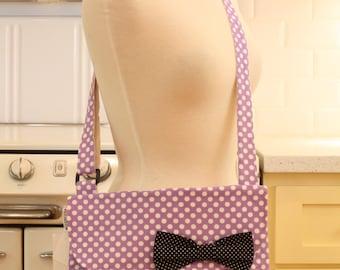 Messenger Bag Purple Dots Cross Body Bag Purse