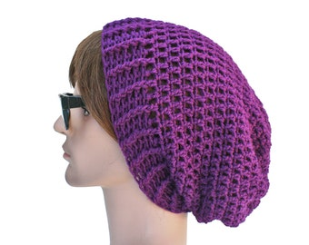 Purple Beanie Purple Slouch Beanie Plum Purple Slouchy Beanie Mens Womens