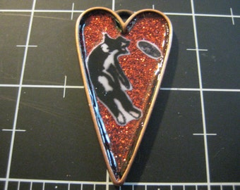 Frisbee Disc Dog Pendant, Aussie Shepherd, Border Collie, 50% goes to the animal rescue Charity of the Month