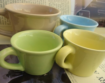 Soft Shades Teacup Porcelain Measuring Cup Set