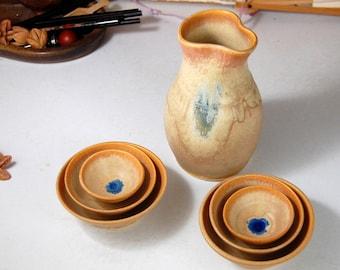 San San Kudo Sake Set in Sunburst - Made to Order