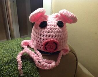 Crochet Little Piggy Hat for Baby