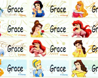 Princes M iron on label sticker clothing uniform school supply daycare camp personalized waterproof washable kid girl baby child gift bag