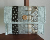 SALE - Clutch / eReader Case / Patchwork Pouch / Cosmetic Bag / Handmade